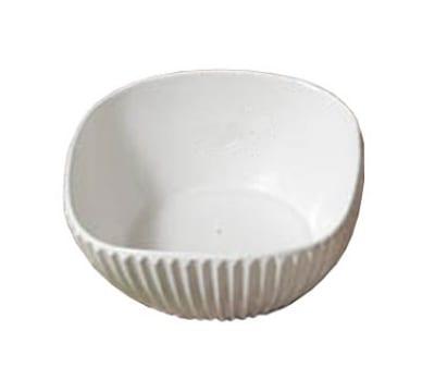 """Bon Chef 9912S BLK 8"""" Square Ribbed Bowl, Aluminum/Black"""