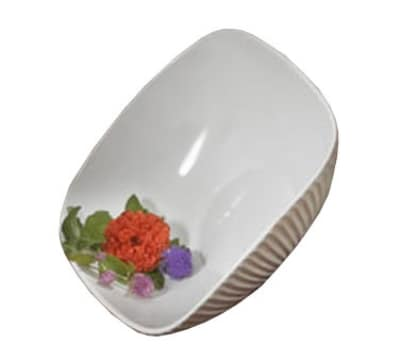 """Bon Chef 9914S BLK 12.5"""" Square Ribbed Bowl, Aluminum/Black"""