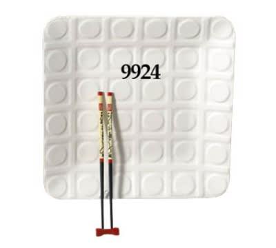 "Bon Chef 9924S WH Circle Embossed Platter, 12.5 x 12.5"", Aluminum/White"