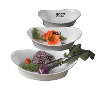 """Bon Chef 9928S WH 11.5"""" Oval Au Gratin, White"""