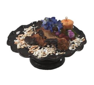 "Bon Chef 9935S BLK 11"" Cake Stand w/  Pedestal, Aluminum/Black"