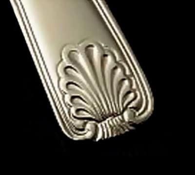 Bon Chef S2006 European Dinner Fork, Shell, 18/10 Stainless Steel