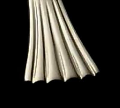 Bon Chef S2802 Iced Tea Spoon, Mimosa, 18/10 Stainless Steel