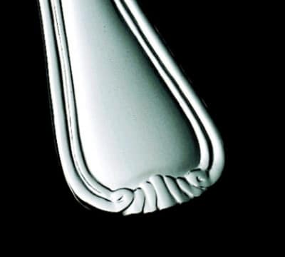 Bon Chef S911S Dinner Knife w/ Solid Handle, Renoir, Silverplated
