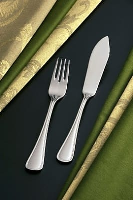 Bon Chef SBS318S Fish Knife, Tuscany, Silverplated