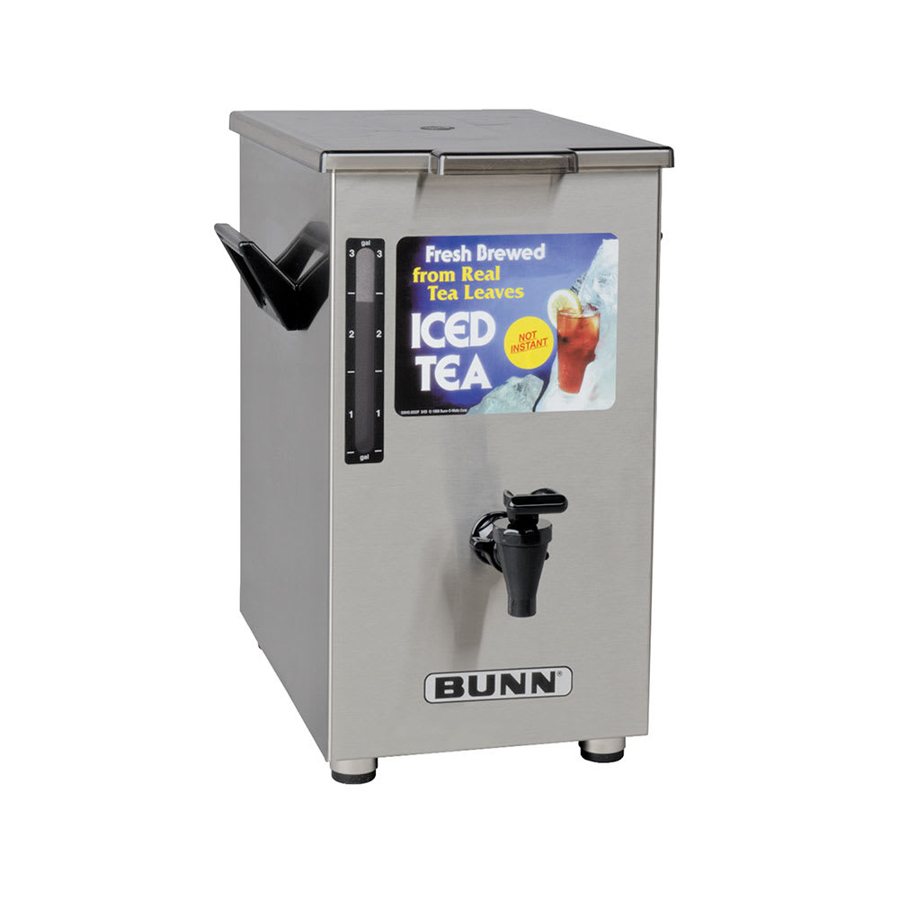 Bunn TD4-0003 TD4 Iced Tea Dispenser, Square, 4 Gallon, Solid Lid (03250.0003)