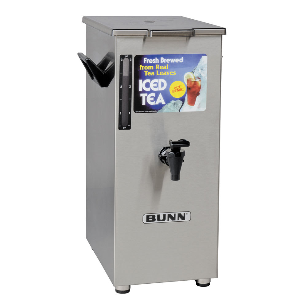 Bunn TD4T-0004 TD4T Iced Tea Dispenser, Square, 4 Gallon, Solid Lid, Tall (03250.0004)