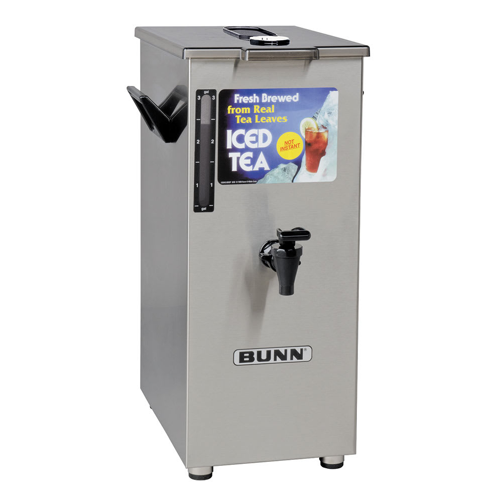 Bunn TD4T 4 gal Square Tall Iced Tea or Coffee Dispenser w/ Handles (03250.0005)