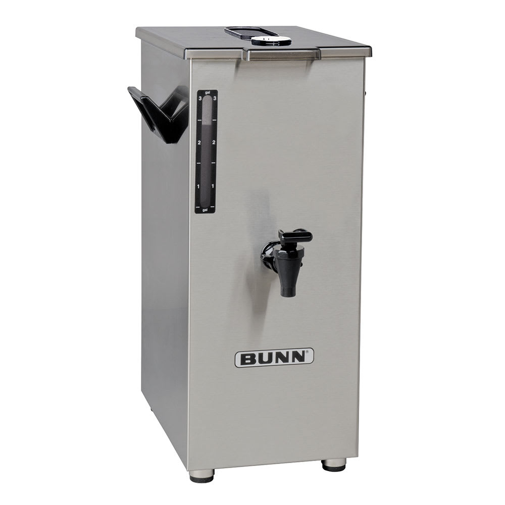 Bunn TD4T-0018 4-Gallon Square Iced Tea Dispenser, Brew Thru Lid, No Decal (03250.0018)