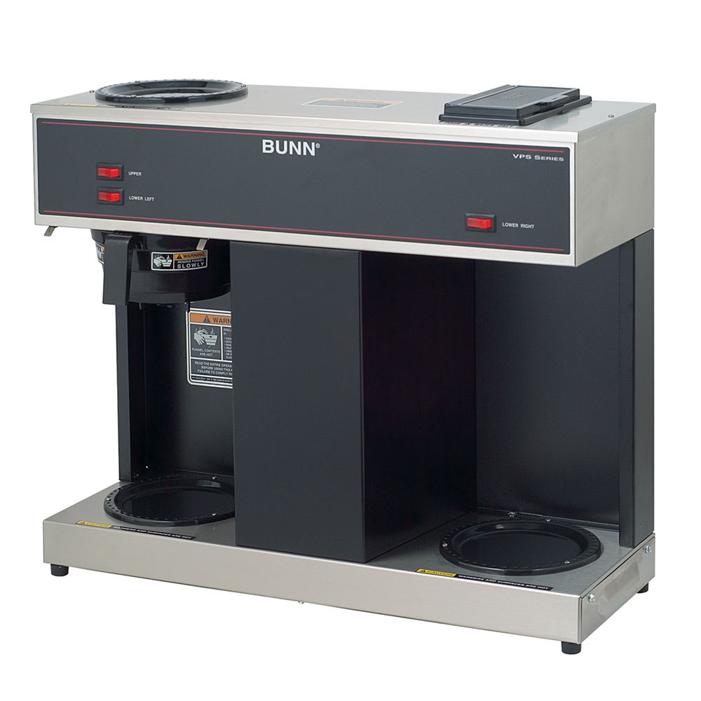 Bunn VPS Pourover Coffee Brewer w/ (2) Lower & (1) Upper Warmers, 120v (04275.0031)