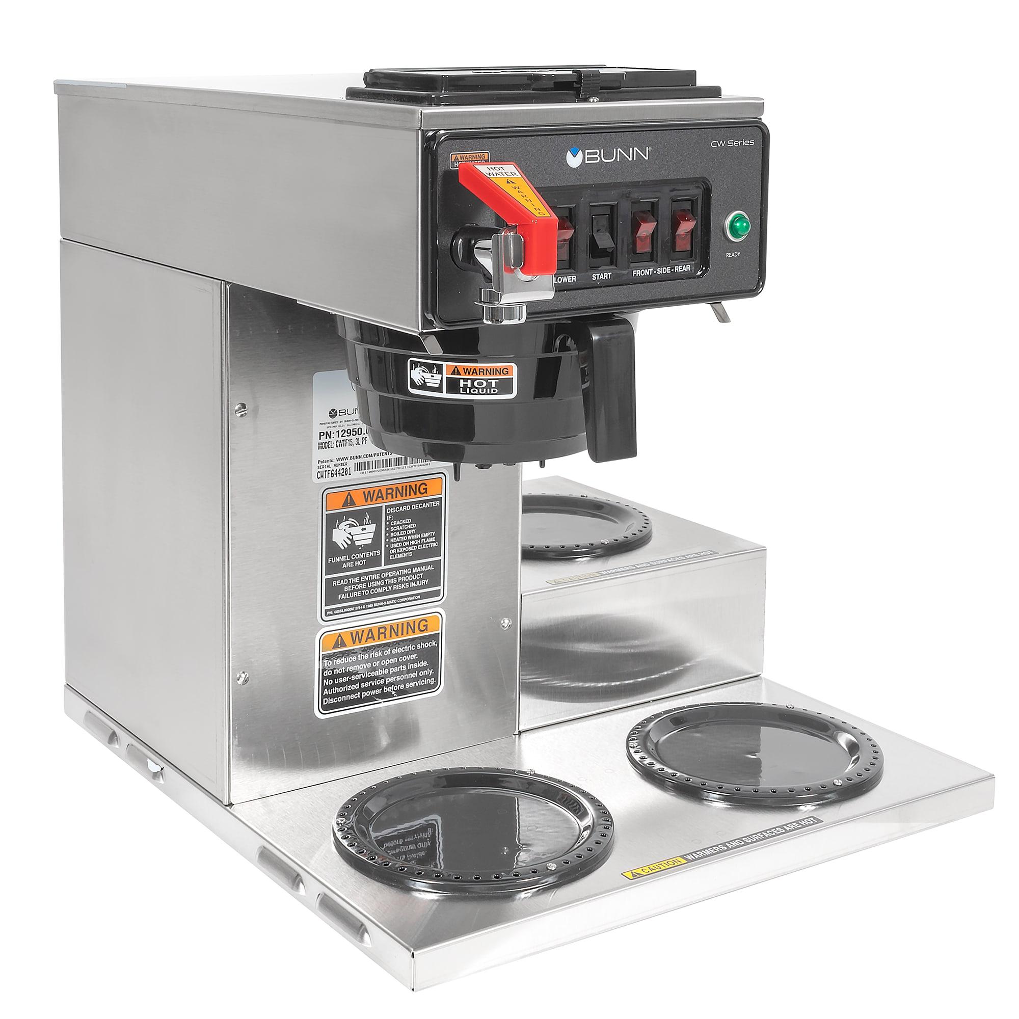 Bunn CWTF15-3 Automatic Coffee Brewer w/ (3) Lower Warmers, 120v (12950.0212)