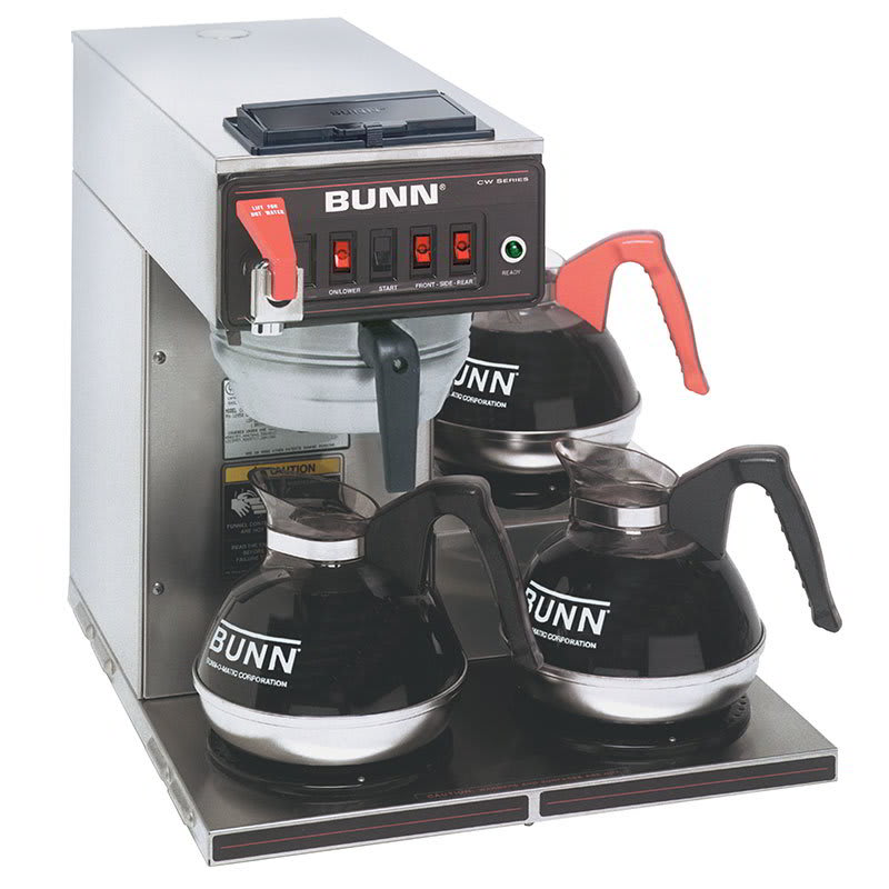Bunn CWTF15-3 Automatic Coffee Brewer w/ (3) Lower Warmers, 120v (12950.0216)