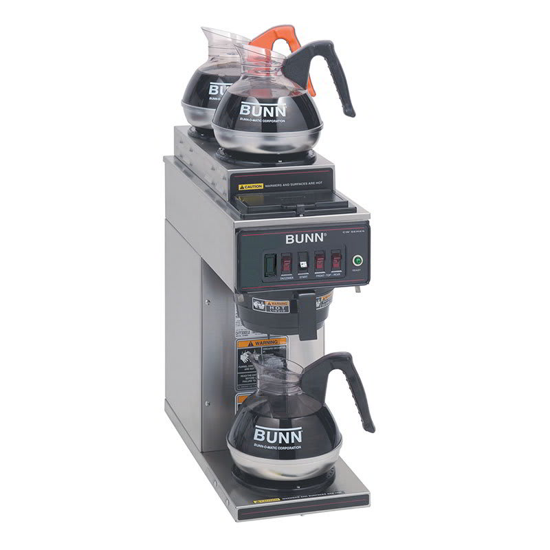 Bunn CWT15-3-0356 Coffee Brewer, 2-Upper/1-Lower Warmers & Pourover Feature, 120v (12950.0356)