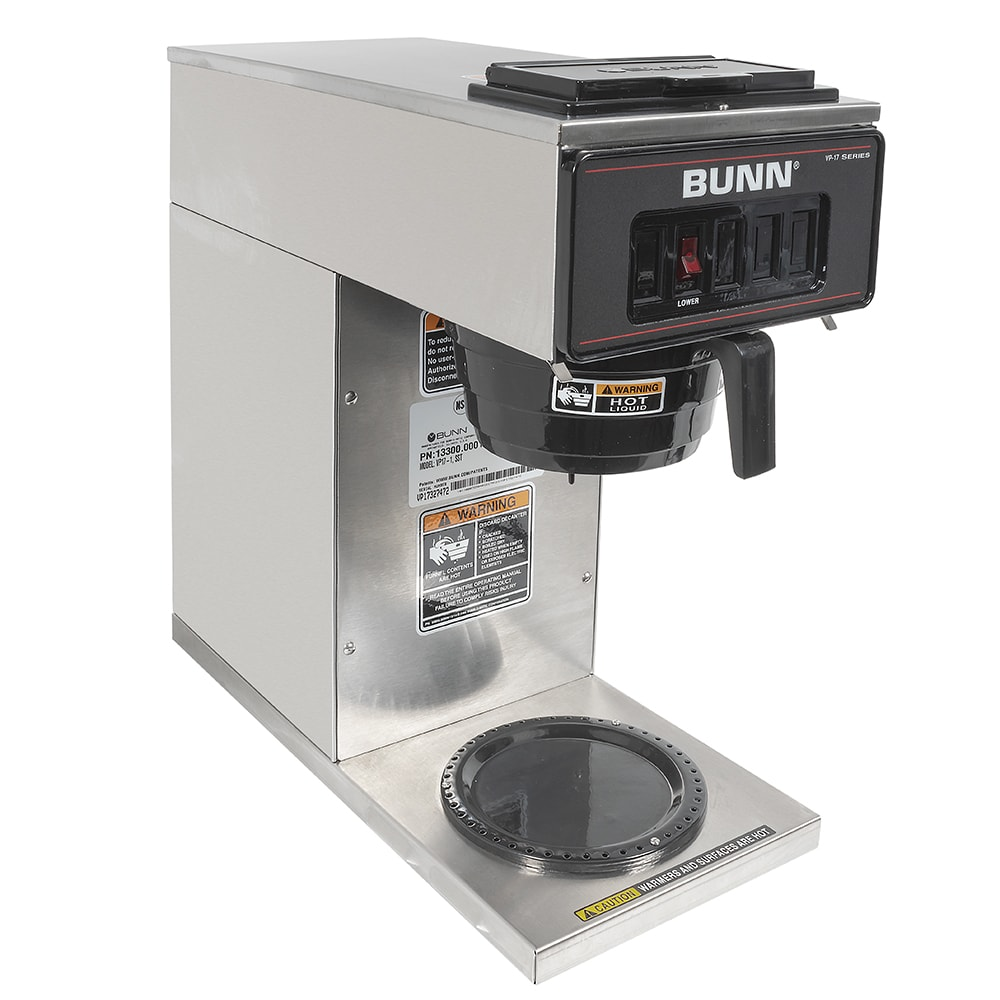 Bunn VP17-1 Pourover Coffee Maker w/ (1) Lower Warmer, 120v (13300.0001)