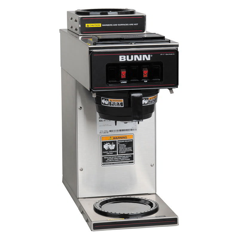 Bunn VP17-2 Pourover Coffee Brewer, 1 Upper/1 Lower Warmers (13300.0002)