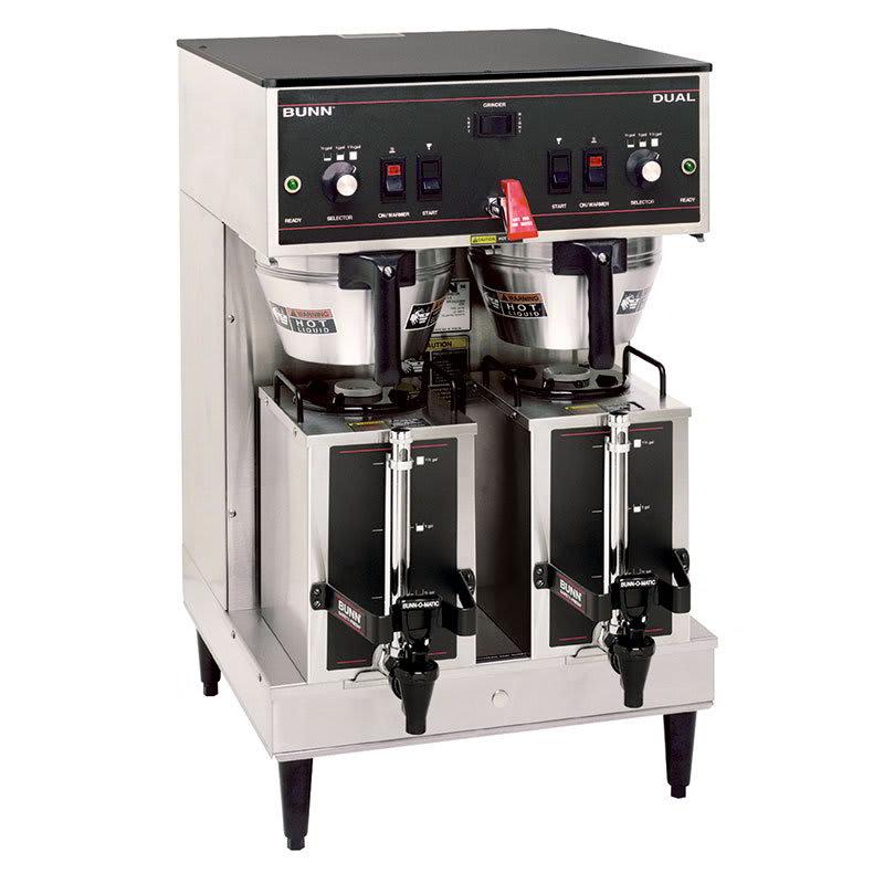 Bunn DUAL GPR Dual Satellite Coffee Brewer w/ Server, Plastic Funnel, 120 208v/1ph (20900.0008)