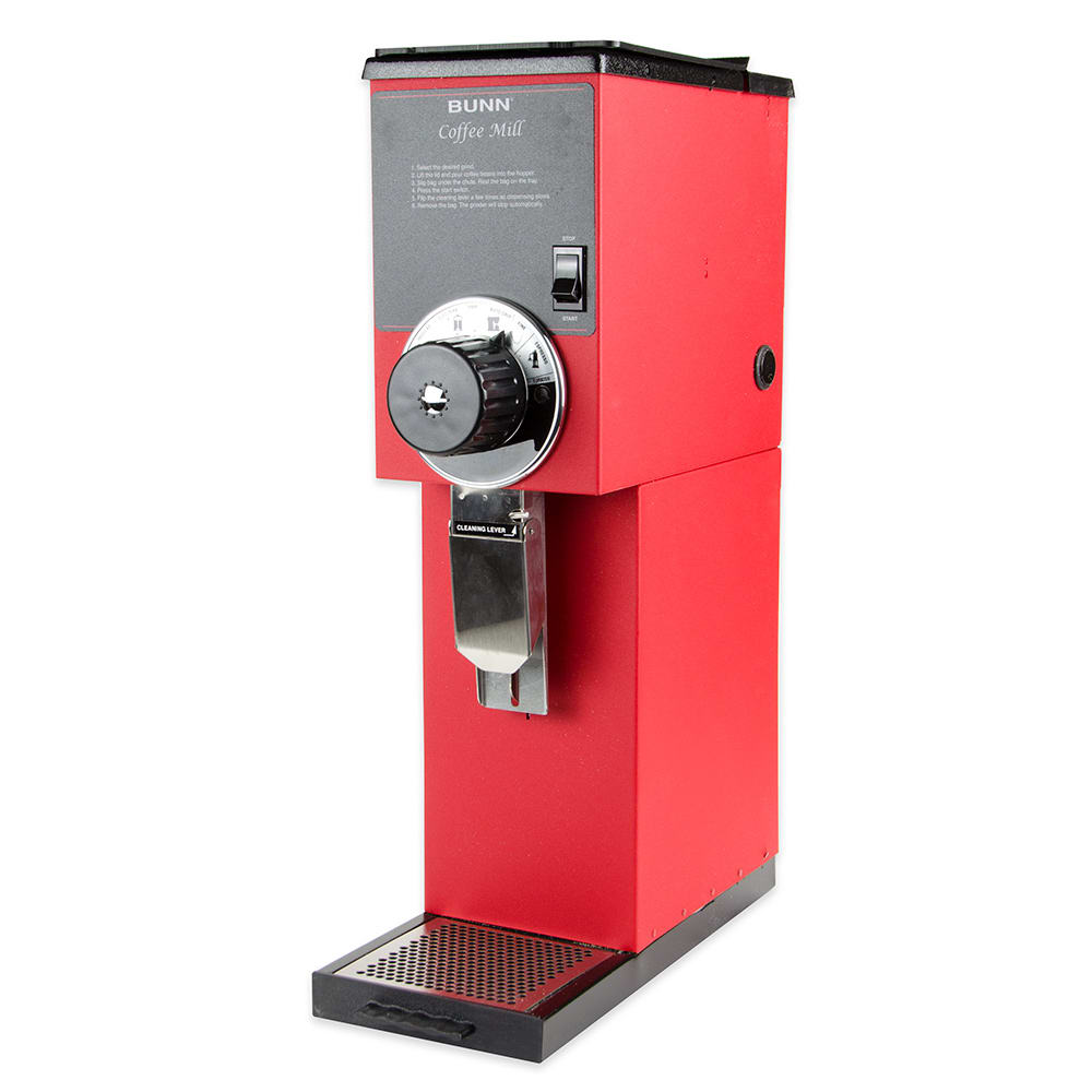 Bunn G2-0001 G2 HD Red Bulk Coffee Grinder, 2 lb Hopper, Red Finish (22102.0001)