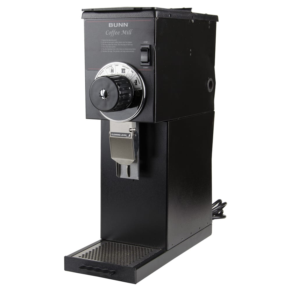 Bunn G1-0000 G1 HD Black Bulk Coffee Grinder, 1 lb Hopper, Black Finish (22104.0000)