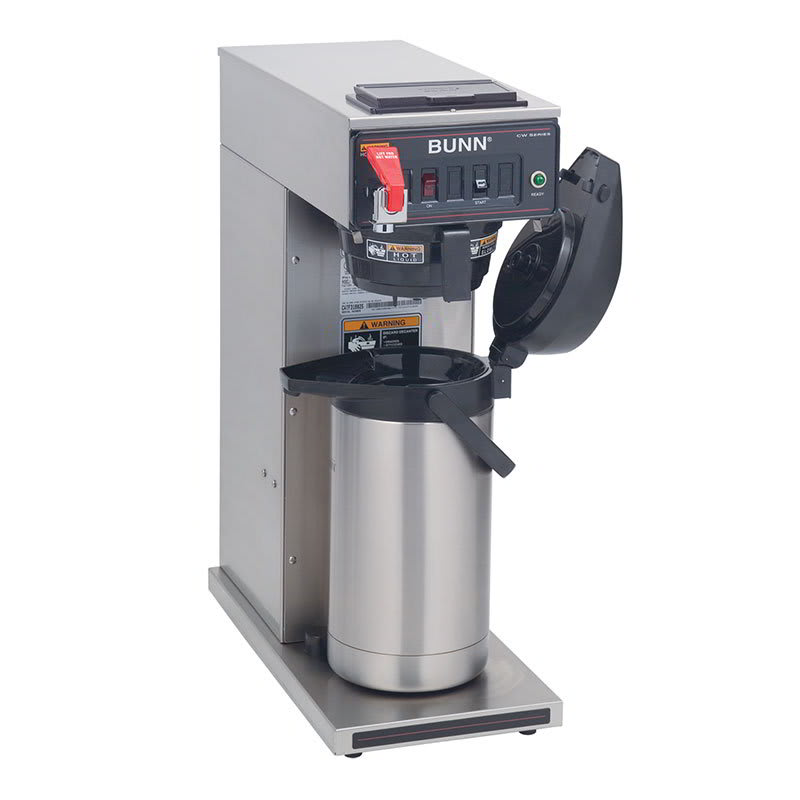 Bunn CWTF35-APS-0008 CWTF35-APS Airpot Coffee Brewer, Black Plastic Funnel, Dual Voltage, 208-240v/1ph (23001.0008)