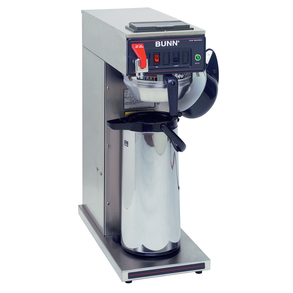 Bunn CWTF-APS-DV-0059 Airpot Brewer, Plastic & Stainless Funnels, Dual Voltage, 120-240v/1ph (23001.0059)