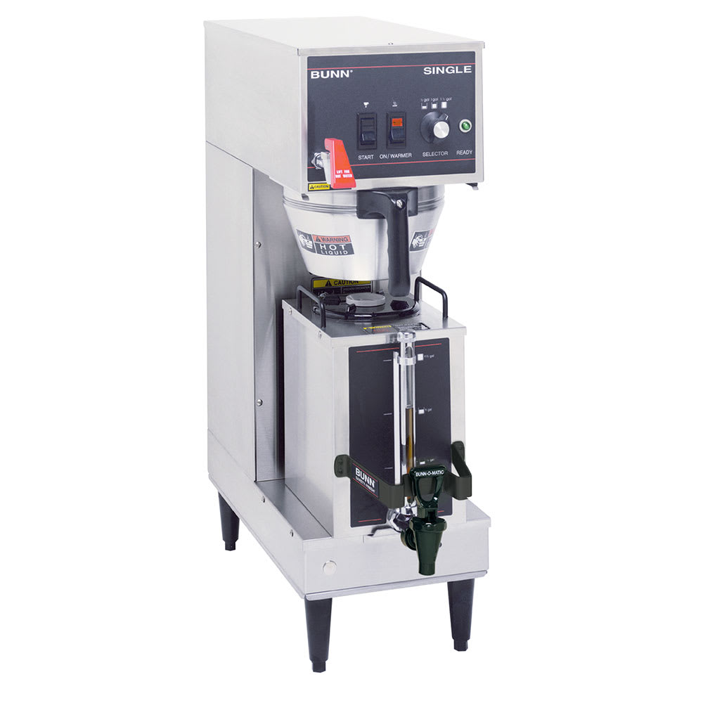 Bunn SINGLE-0011 Single Satellite Coffee Brewer w/Server, Stainless Funnel, 120-240v/1ph (23050.0011)