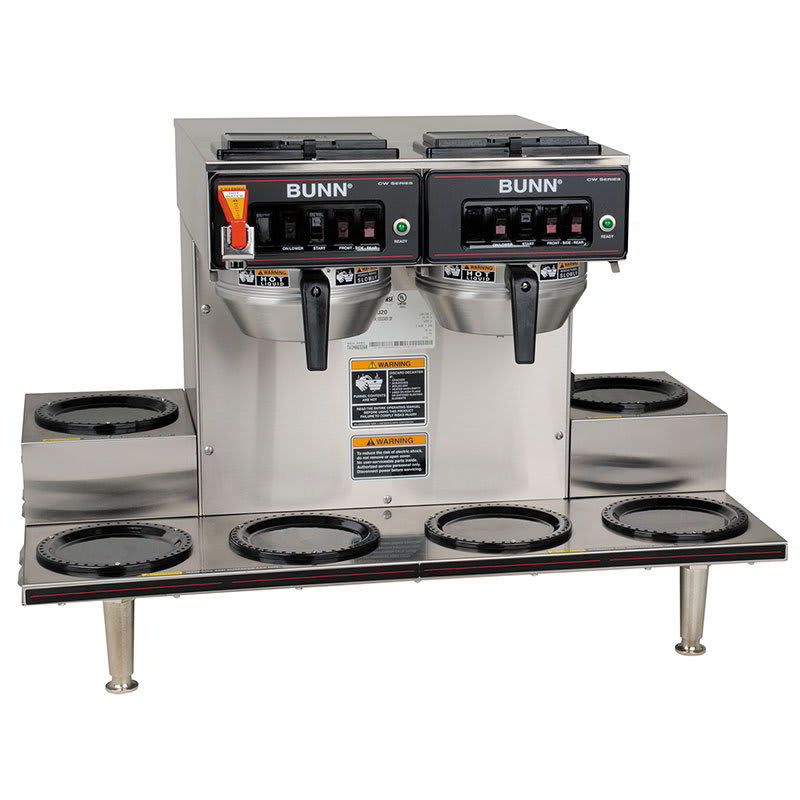 Bunn CWTF-0/6-0020 CWTF Automatic Coffee Brewer w/ 6 Warmers, 2 Brew Heads, 120-240v/1ph (23400.0020)