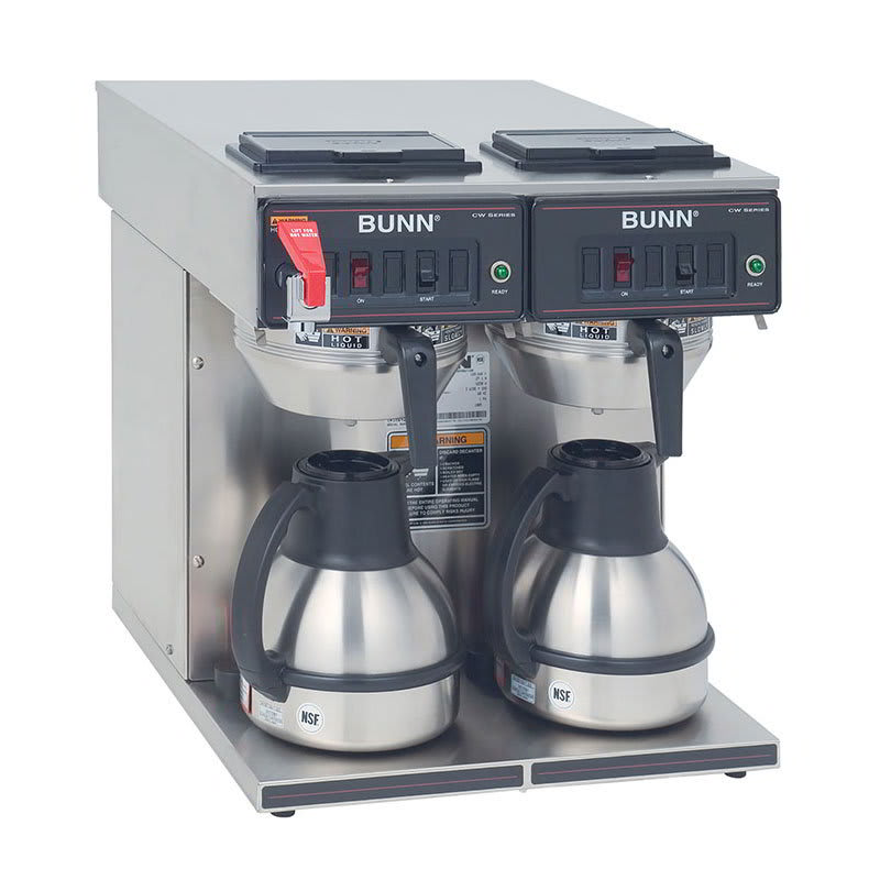 Bunn CWTF-TC-0047 CWTF Twin-TC Twin Thermal Carafe Coffee Brewer, S/S Funnel, Faucet (23400.0047)