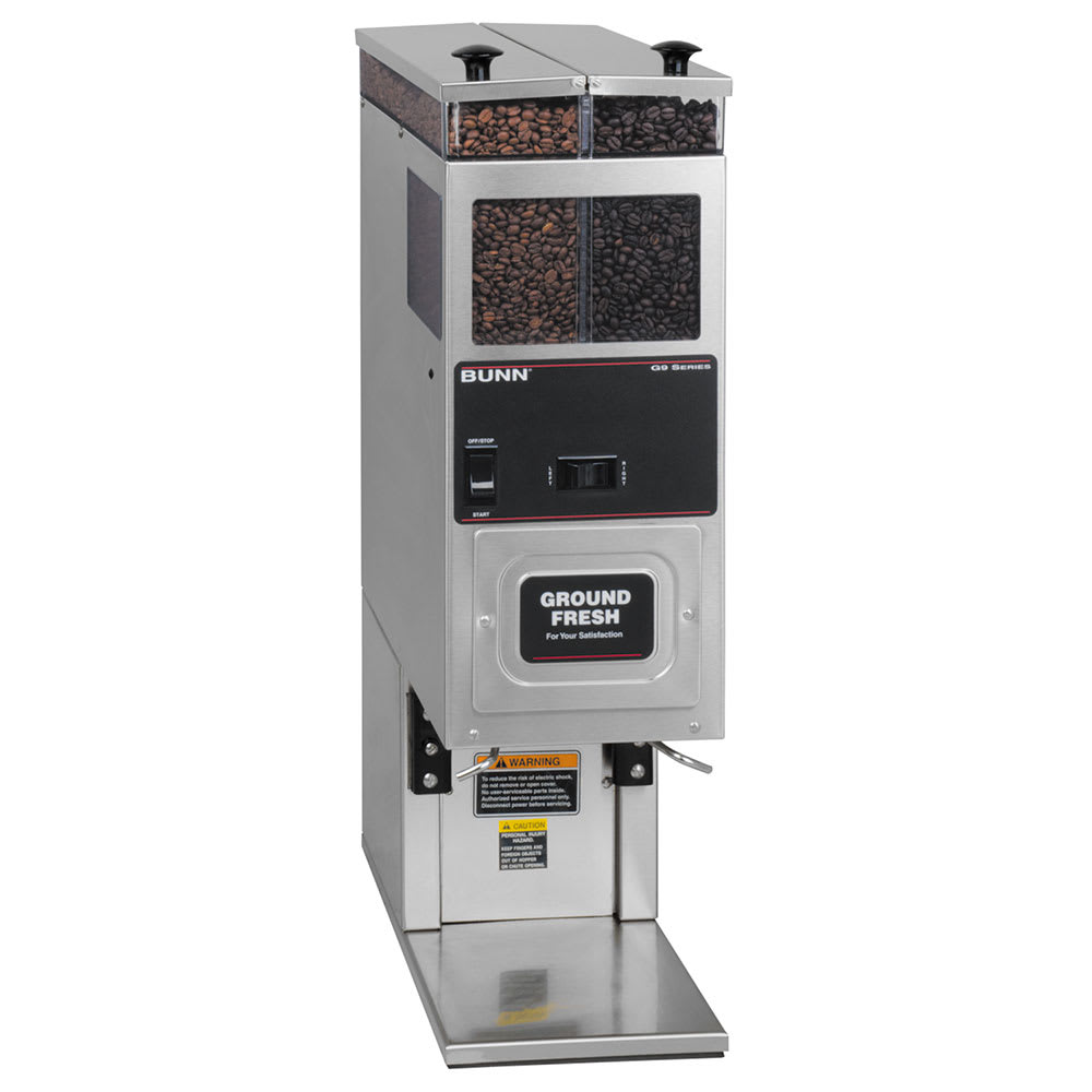 Bunn G9-2T-HD-0021 Coffee Grinder, 2-Hoppers & Brewer Interface, Accepts Large Funnel (24250.0021)