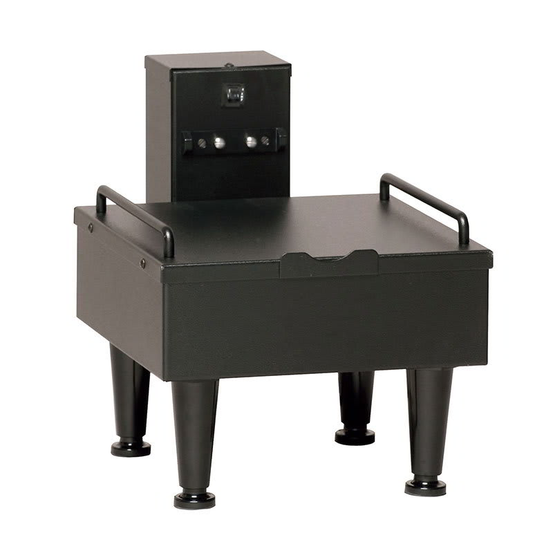 "Bunn SH-STAND-1-0003 1SH Stand for Satellite Coffee Server, Black Finish, 4"" Adj. Legs, 120V (27825.0003)"