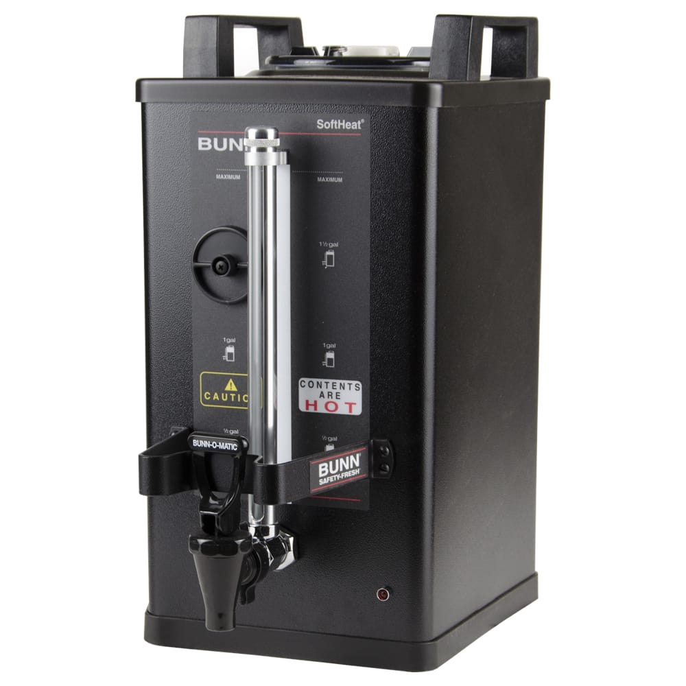 Bunn SH 1.5 Gallon Satellite Brewer Server, 30 Min. Setting, Black Finish (27850.0004)