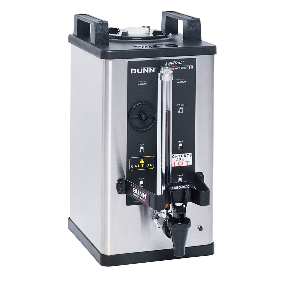 Bunn SH 1.5 Gallon Satellite Brewer Server, 240 Min. Setting, Stainless, 120v (27850.0016)