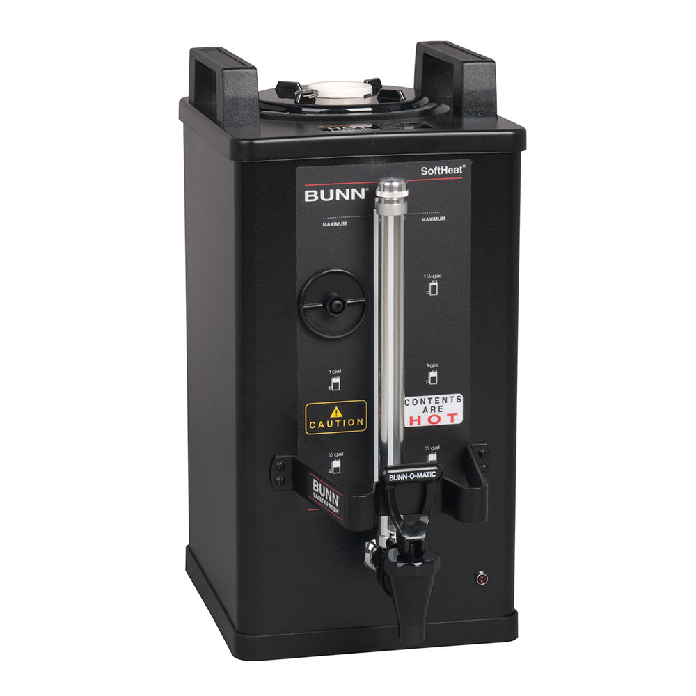 Bunn SH 1.5 Gallon Satellite Brewer Server, 120 Min. Setting, Black Finish (27850.0022)