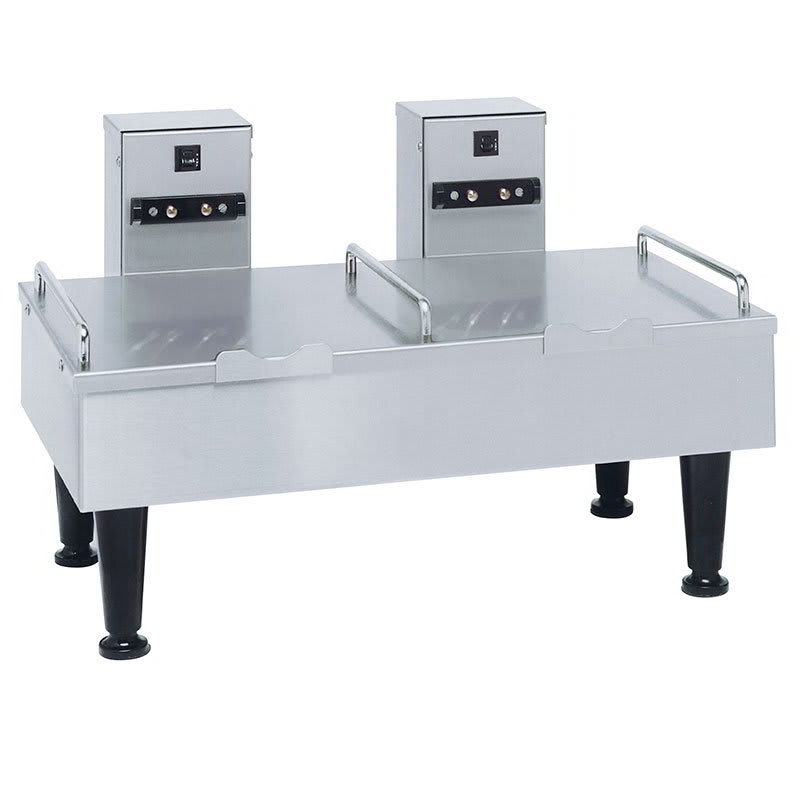 "Bunn 2SH Stand for 2 Satellite Coffee Servers, Stainless Finish, 4"" Legs, 120V (27875.0000)"