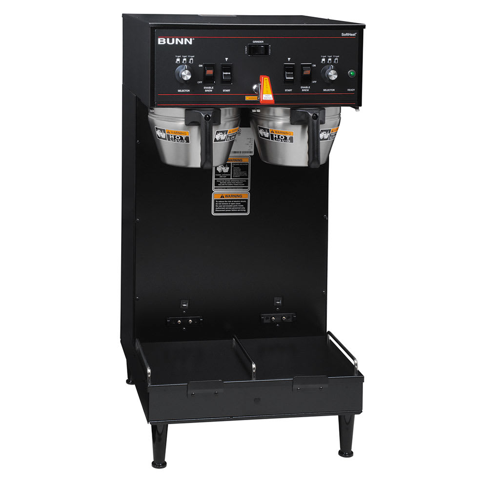 Bunn DUAL SH Satellite Coffee Brewer, Black Finish, 120 208v/1ph (27900.0020)