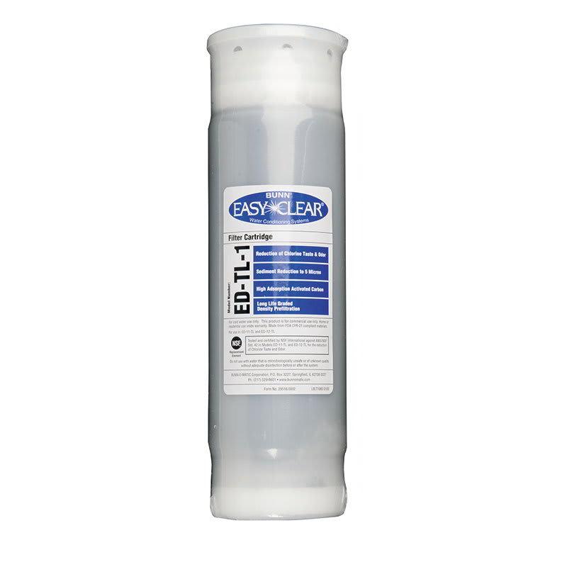 "Bunn ED-T-1-1002 Drop-In Replacement Cartridge for ED-T-1, Taste & Odor, 5-Micron, 10"" (30231.1002)"