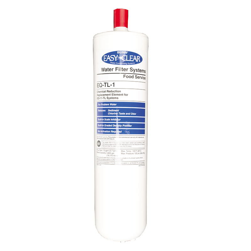 """Bunn EQ-H-1 Quick Change Replacement Cartridge for EQ-H-1, Softener, 5 Micron, 10"""" (30331.1004)"""