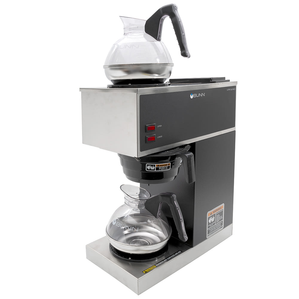Bunn VPR Pourover Coffee Brewer, Lower/Upper Warmer, Decanters, 120 V (33200.0002)