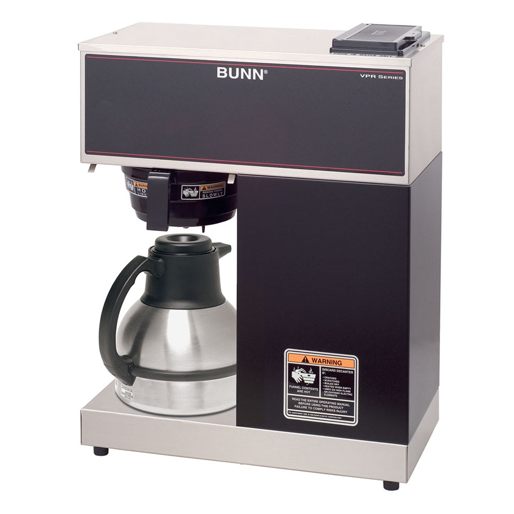 Bunn VPR-TC Pourover Thermal Carafe Brewer, Splash Guard Funnel (33200.0011)