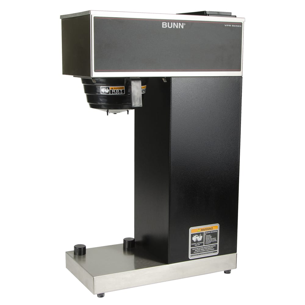 Bunn VPR-APS Pourover Airpot Brewer, Airpot, Stainless/Black Finish, 120v (33200.0014)