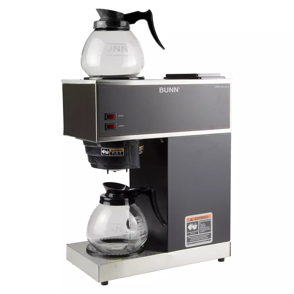 Bunn VPR Pourover Coffee Brewer w/ Lower & Upper Warmers, (2) Decanters, 120v (33200.0015)
