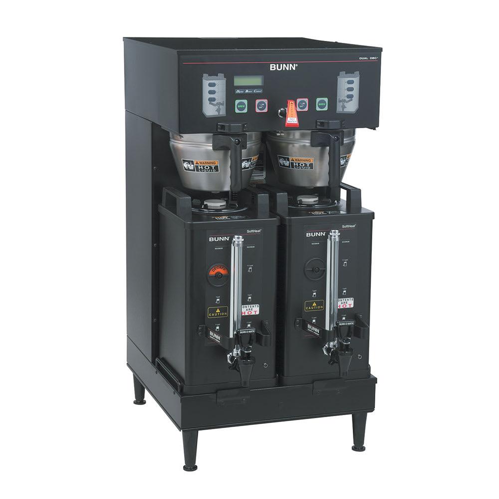 Bunn SH-DUAL-DBC-0004 Dual Satellite Coffee Brewer, Upper Faucet, Black, 120-240v/1ph (33500.0004)
