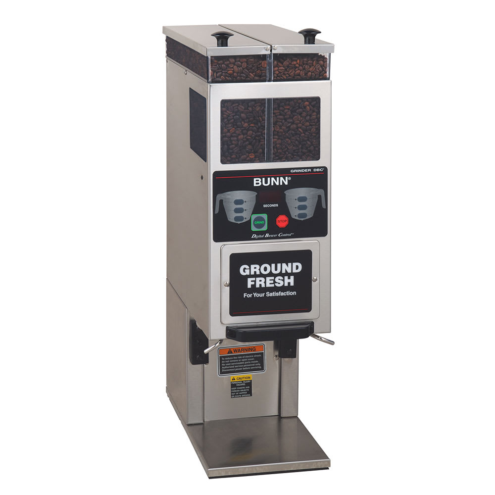 Bunn G9-2T-DBC-0000 Coffee Grinder, 2-Hoppers & Wireless Interface, Stainless (33700.0000)