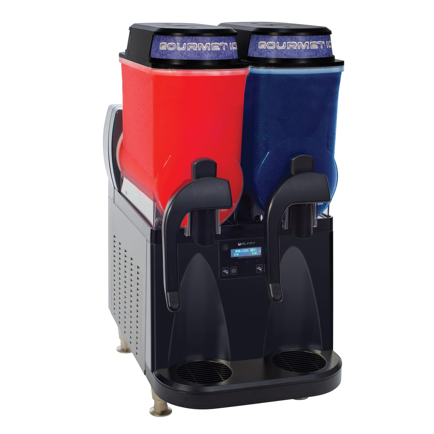 Bunn ULTRA-2 Ultra Gourmet Ice Frozen Drink Machine - (2) 3 gal Hoppers, Black (34000.0080)