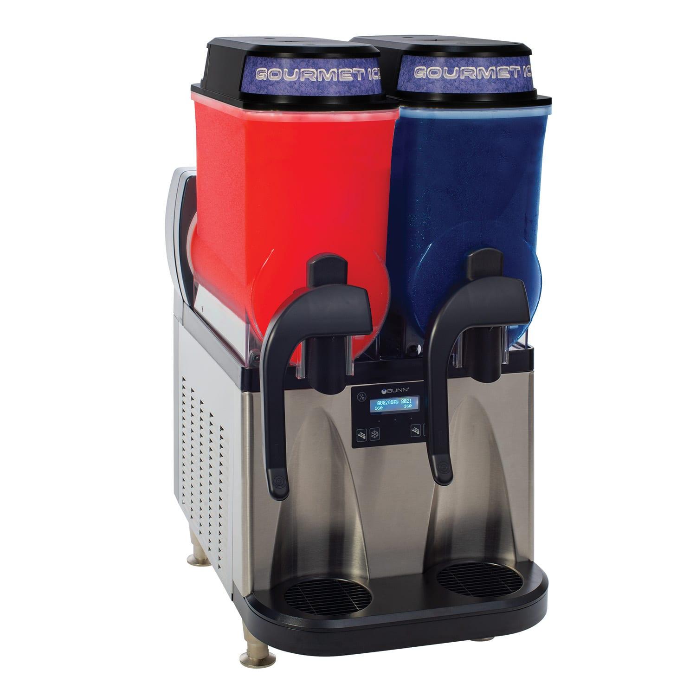 Bunn ULTRA-2 Ultra Gourmet Ice System - (2)3-gal Hoppers, Reversing Auger, Stainless-Black (34000.0099)