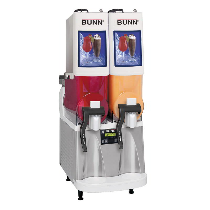 Bunn ULTRA-2PAF-0500 Frozen Drink Machine, (2) 2-gal Hoppers & Touchpad Display, Stainless, White (34000.0500)