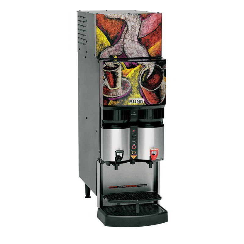 Bunn LCR-2-0036 Liquid Coffee Refrigerated Dispenser w/ (2) Dispense Heads, 120v (34400.0036)