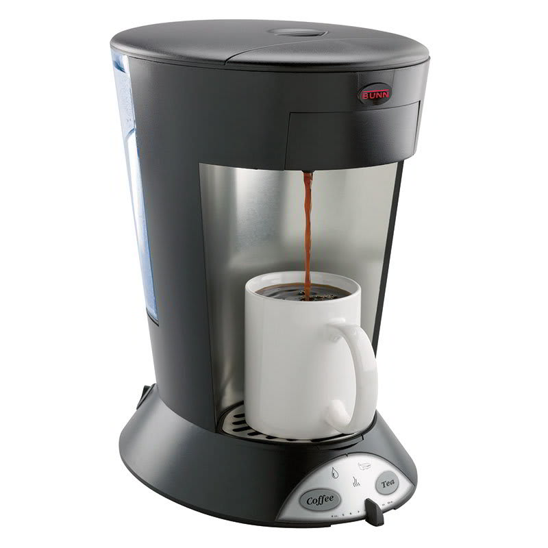 Bunn MCP-0004 High Altitude Pourover Pod Brewer w/ 60-cup/hr, Thermostat, 2-Pod Holders, Black (35400.0004)