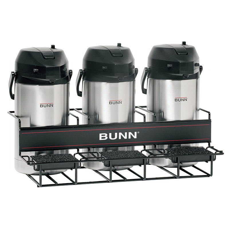 Bunn UNIV-3-0002 UNIV-3 APR Universal Airpot Rack, For 3 Airpots, Holds 3 Lower (35728.0002)
