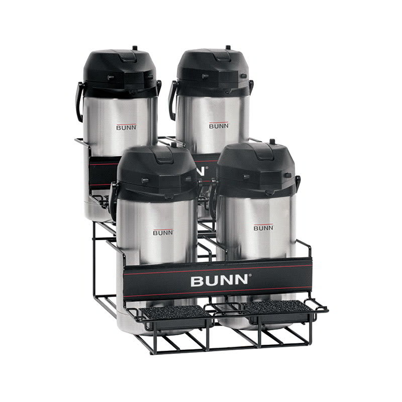 Bunn UNIV-4 APR UNIV-4 APR Universal Airpot Rack, For 4 Airpots, Holds 2 Upper/2 Lower (35728.0003)