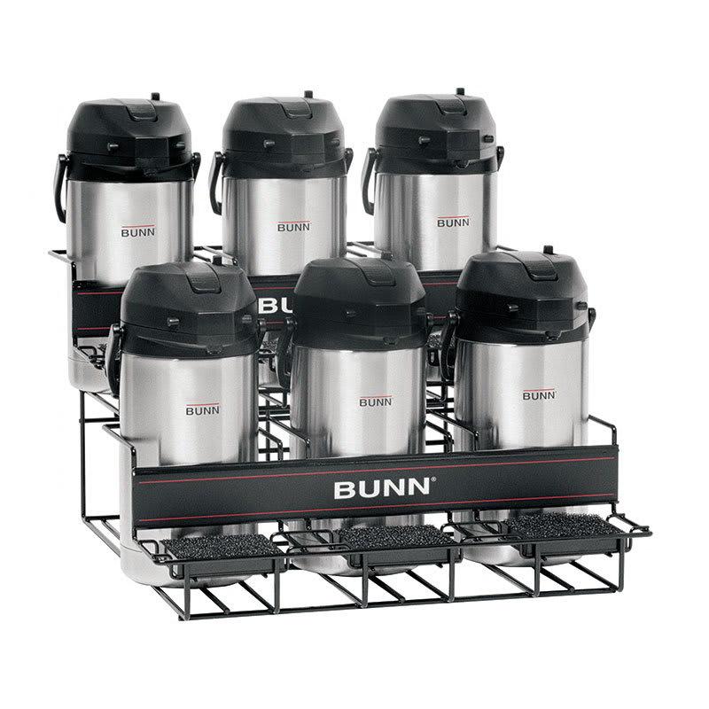 Bunn UNIV-6 APR UNIV-6 APR Universal Airpot Rack, For 6 Airpots, Holds 3 Upper/3 Lower (35728.0005)